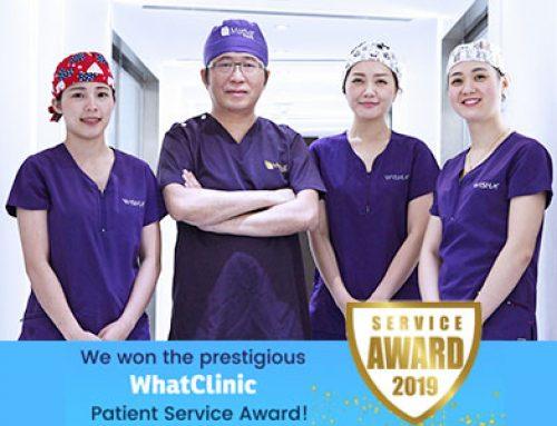 知美診所再次榮獲2019年Whatclinic service award獎項!
